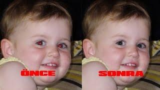 Kırmızı göz nasıl kaldırılır? profesyonel ve basit bir şekilde... B.s.G