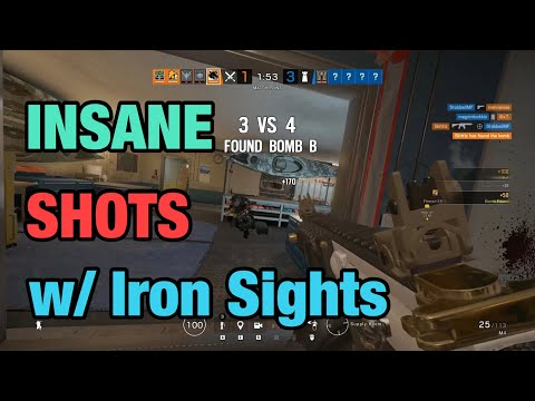 INSANE SHOTS w/ Iron Sights - Rainbow Six Siege