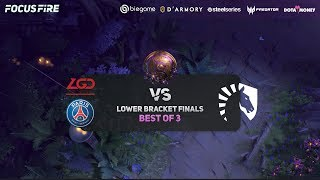 PSG LGD vs Team Liquid Game 3 (BO3) | The International 2019 Lower Bracket Finals