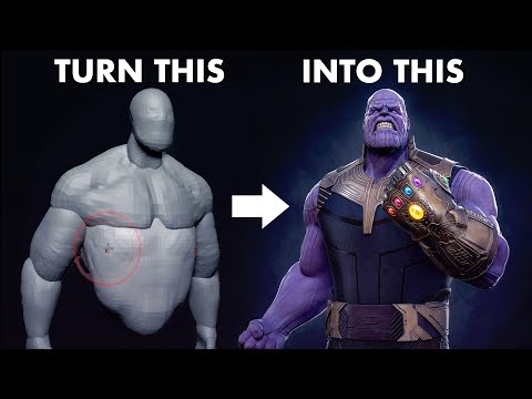 Sculpting THANOS in 11 Minutes