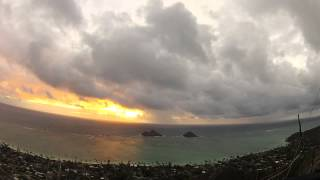Oahu Sunrise GoPro Time lapse (Kailua)