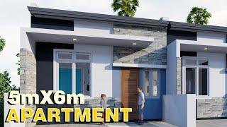 4 Door Apartment W/ Loft 5x6m PLAN Walk Through House Tour