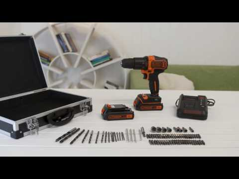 BLACK+DECKER - Akku-Schlagbohrschrauber-Kit