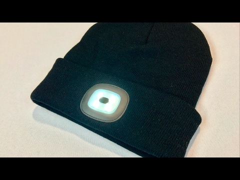 4 LED Rechargeable Hands Free Flashlight Cap Knit Hat Beanie by Your Supermart review