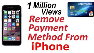 How to remove payment method from your I Phone, Remove Credit / Debit card from Apple ID iPhone