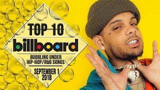 Top 10 • US Bubbling Under Hip-Hop/R&B Songs • September 1, 2018 | Billboard-Charts