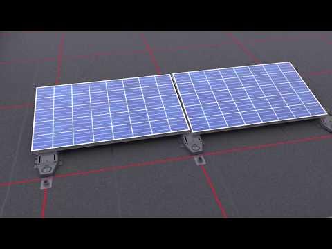 Instrukcja montażu paneli fotowoltaicznych na dachu płaskim Bauder - zdjęcie