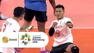 Highlight Bola Voli Putra - Indonesia vs Thailand   Asian Games 2018