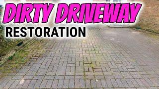 Pressure washing and re sanding block paving driveway