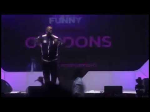Comedian Gordons Takes Heavy Shots At Buhari  & Fashola On Stage
