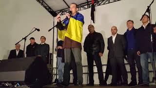Выступление депутатов на майдане со сцены