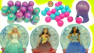 Squinkies Squashies Gumball Surprise Blind Bag Balls + Holiday Barbie Dolls