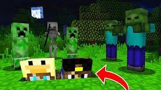 Майнкрафт Выживание ХАРДКОР в Деревне Жителей в 3 часа ночи Нуб Minecraft видео мультик для детей