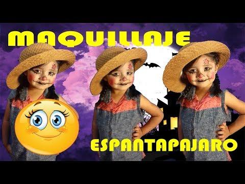 COMO MAQUILLARSE PARA HALLOWEEN NIÑOS (ESPANTAPAJAROS) facil/ Diann DIY Ideas sencillas.