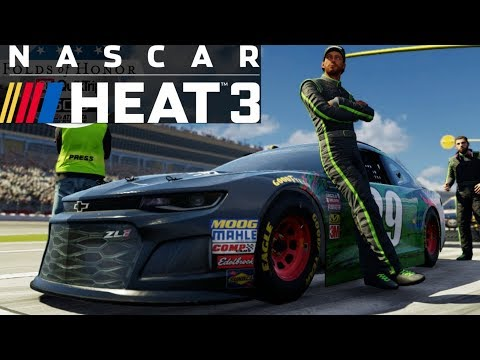 NASCAR Heat 3 Gameplay - Cup Testing At Michigan (2019 Aero/Engine Package)
