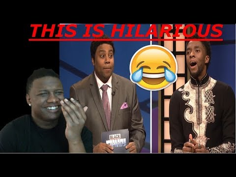 THIS IS FUNNY!!!! Black Jeopardy with Chadwick Boseman - SNL REACTION