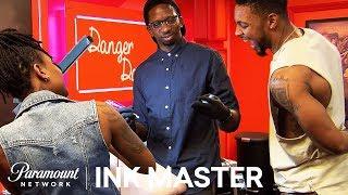 Black & Grey Cherubs: Elimination Tattoo | Ink Master: Shop Wars (Season 9)