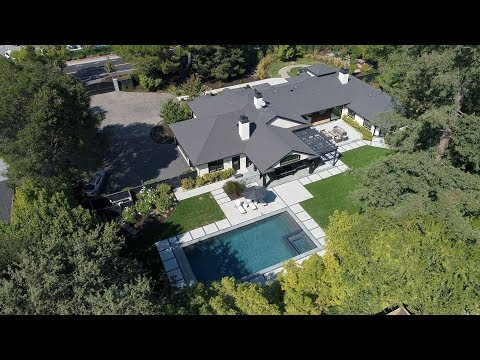 190 Encinal Avenue - Atherton, CA by Douglas Thron drone real estate video tours