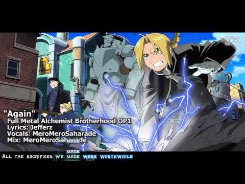 """Anime Songs English Lyrics (Book 1) - Fullmetal Alchemist Brotherhood - """"Again"""" Opening 1 ..."""