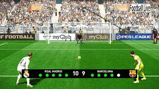 PES 2019   REAL MADRID vs BARCELONA   El Clasico   Penalty Shootout   Gameplay PC