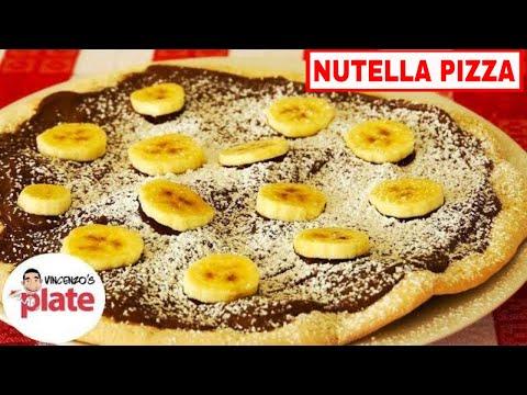 NUTELLA PIZZA RECIPE | How to make Nutella Dessert Pizza