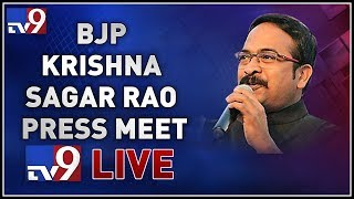 Download Video BJP Krishna Saagar Rao Press Meet LIVE - TV9 MP3 3GP MP4