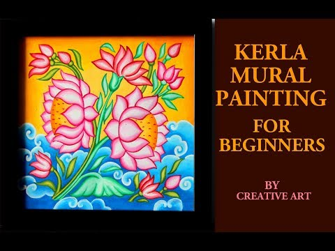 kerala mural painting for beginners by creative art