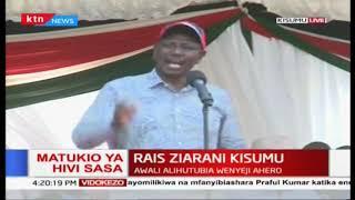 'Sisi wote tuko nyuma ya Handshake kuunganisha Kenya' DP Ruto during Healthcare launch in Kisumu