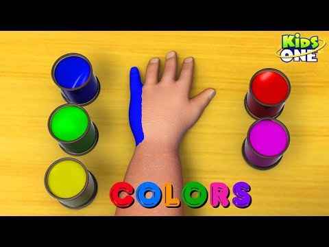 Learn Colors For Kids | Hand Body Paint | Baby Hulk Teach Colors