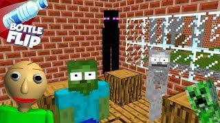 MONSTER SCHOOL : BOTTLE FLIP CHALLENGE  / TOP 3 BEST Episodes / Minecraft Animation