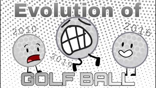 Every Time Golf Ball Spoke In BFDI! - EVOLUTION OF GOLF BALL
