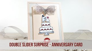 Happy (Belated) Anniversary | Interactive Card | Lawn Fawn: Double Slider Surprise