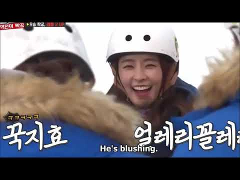 Yoo Jae Suk HaHa being Spartace Shipper Jongkook being shy with Ji Hyo