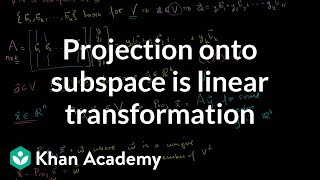 Lin Alg: A Projection onto a Subspace is a Linear Transforma