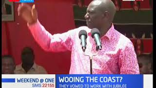 Deputy President William Ruto is today in Kwale county to launch various development projects