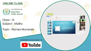 Class – III | Roman Numerals | Maths Concept For Kids | Easy To Learn | Ruby Park Public School Thumbnail