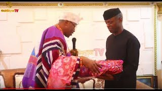 OLUWO OF IWOLAND GIVES VICE  PRESIDENT, YEMI OSINBAJO A NEW CHIEFTAINCY TITLE