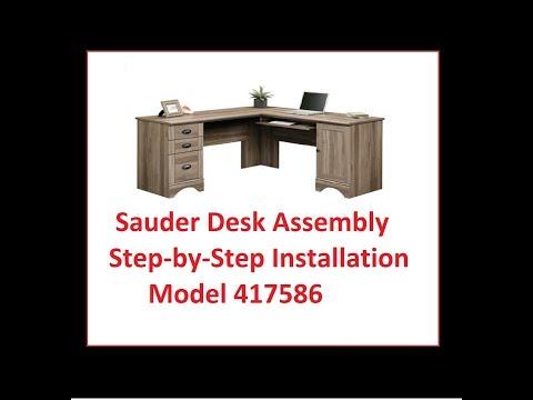 Sauder Desk assembly Model 417586