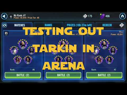 Tarkin Arena Trial showcasing 70k crits — Star Wars Galaxy of Heroes