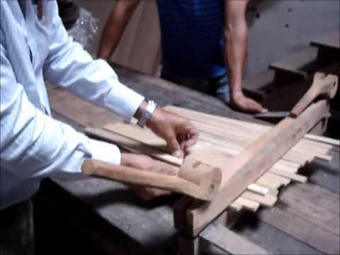 Dispositivo para el laminado del Bambú Guadua