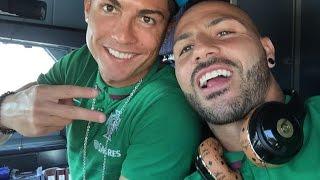 Куарежма и Роналду в отличном настроении летят в Албанию