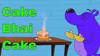 Cake Bhai Cake Ep - 9 - Pyaar Mohabbat Happy Lucky - Hindi Animated Cartoon Show - Zee Kids