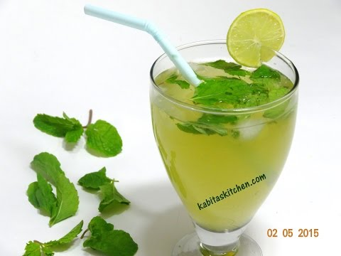 Video Mint Lemonade Recipe-Refreshing Nimbu Pudian Sharbat-Lemonade Indian Style
