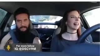 Смешные видео , видео приколы. Девушки за рулём!)