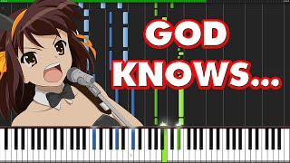 God Knows... - The Melancholy of Haruhi Suzumiya [Piano Tutorial] (Synthesia)