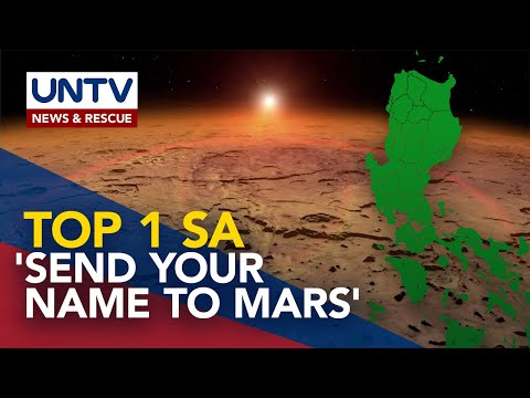 [UNTV]  Mga Pilipino, nangunguna sa 'Send Your Name to Mars' program ng NASA