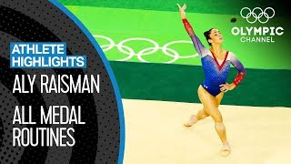 Aly Raisman 🇺🇸 All Medal Routines   Athlete Highlights
