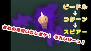 コクーン  - (ポケットモンスター) - ポケモンGO ロケット団したっぱ討伐(ビードル→コクーン→スピアー)