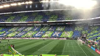 Seattle Sounders player introductions for MLS final 2019