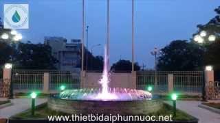 Lắp đặt đài phun nước nghệ thuật Vietcombank Nhơn Trạch